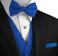 XS - 6XL. Italian Design. Solid Satin Tuxedo Vest, Bow-Tie and Hankie Set.