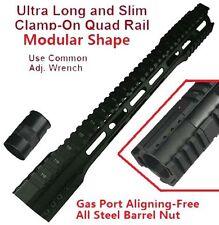 """223 16.5"""" Ultralight Free Float Handguard Forend W Steel Nut Black US SELLER"""
