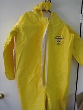 Box of 4 Dupont Tychem QC QC127 Chemical Hazmat Suits X-LARGE Yellow