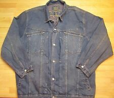 MEN MARITHE FRANCOIS GIRBAUD DENIM JEAN JACKET BLUE SZ: 4XL