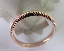 NEW Pure 18K Rose Gold Ring / Rose Gold Band Size: 7