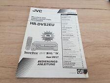 Originale JVC Bedienungsanleitung  für HR-DVS2EU   12 Monate Garantie*