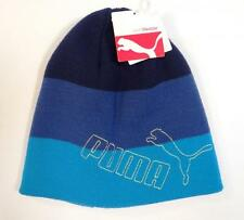 Puma Signature Blue Knit Beanie Skull Cap Adult One Size NWT