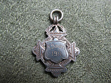 Silver Cycling Medal / Fob. 1911. Kimber Cup. Streatham Cycling Club.  E.Dovey.