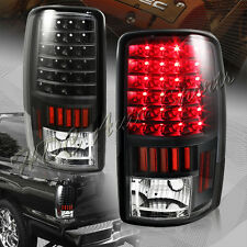 For Chevy/GMC/Suburban/Tahoe/Yukon XL 1500 2500 LED Black Rear Tail Lights Lamps