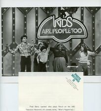 MICHAEL YOUNG FRED BERRY KIDS DANCING KIDS ARE PEOPLE TOO 1979 ABC TV PHOTO