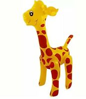 INFLATABLE GIRAFFE 59cm Zoo Animal Blow Up Inflate Party Toy Novelty Pool Party