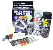 Etech Black Car Alloy Wheels Refurbishment Wheel Spray Paint Lacquer Repair Kit
