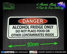 ALCOHOL FRIDGE FUNNY WARNING STICKER FOR BAR FRIDGE