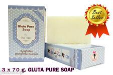 3 x 70 g GLUTA PURE SOAP Wink White Glutathione Anti-Aging Whitening Beauty Skin