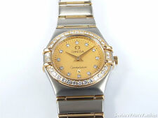 Omega Constellation Mini 22.5mm Champagne Dial 18k Gold & 42 Diamonds 1267.15.00