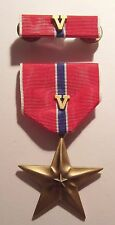 "Bronze Star for VALOR Military Medal with Ribbon  ""V"" DEVICE"