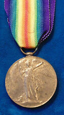 WW1 Great Britain British Victory medal PTE. E. SPENCER YORK & LANCASTER REG'T.
