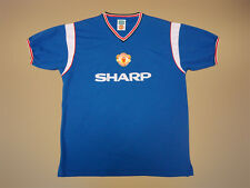 MANCHESTER UNITED Third 1984/86 SCORE DRAWE Football Shirt Jersey Soccer Maglia