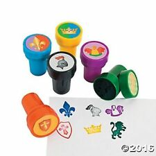 6 Medieval Knight Self Ink Stampers Stamps Kids Birthday Party Favors Gifts