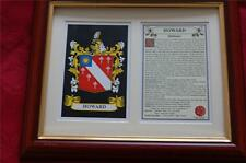 HOWARD Heraldic Framed Coat of Arms + Family Crest + History