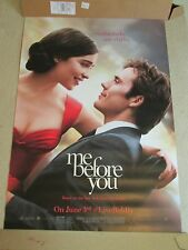 """HUGE 70""""x48"""" Me Before You 2016 Vinyl Movie Theater Banner/Poster Claflin/Clarke"""