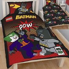 Lego Batman Joker Single Panel Duvet Cover Bed Set New Gift
