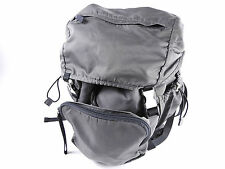 Authentic PRADA Nylon Backpack Bag Gray Black Silver Hardware A-4547