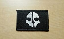 COD 10 Skull Mask Velcro Morale Patch Black Devgru Special Forces Ghost Recon