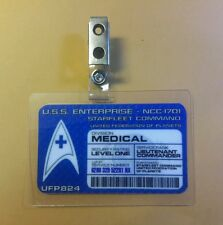 Star Trek Id Badge -Starfleet Command Medical Lt. Commander  cosplay prop