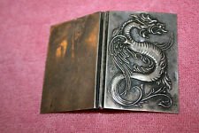 Vintage Dragon Card Holder marked Sterling B with Dagger 2026