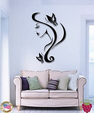 Wall Stickers Vinyl Decal Sexy Girl With Butterfly In Hair Romantic  (z1867)