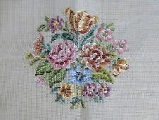 """Stitchery trammed Needlepoint tapestry canvas TC35 Roses Tulips 17""""x 17"""""""