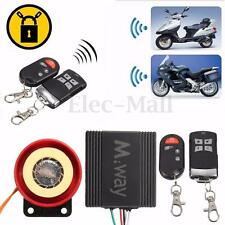 Motorcycle Motorbike Bike Scooter Anti-theft Security Alarm 125db 2 Remote 12V