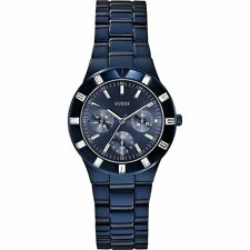 Guess W0027L3 Womens Blue Dial Analog Quartz Watch with Stainless Steel Strap
