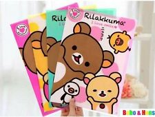 San-X Rilakkuma A4 File Folder- 4 of Set