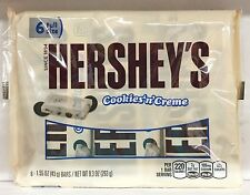 Hershey's Cookies N Cream Chocolate Bar 6 pack 9.3 oz Hersheys and