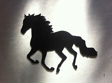 Horse Running 6 inch Metal Art Wall Ornament Craft Stencil Decoration Black