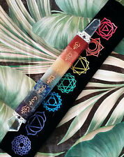 HUGE 8 INCH CHAKRA CRYSTAL WAND WITH 7 GOLD REIKI USUI SANSKRIT SYMBOLS, W.POUCH