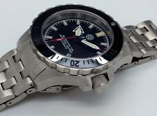New Deep Blue Mil Ops Black Ceramic Bezel Automatic T100 Tritium Tube Mens Watch
