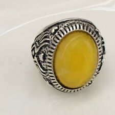 Hot Vintage woman 316L Stainless Steel Vogue Design Mini Stone USA Ring Size 11!