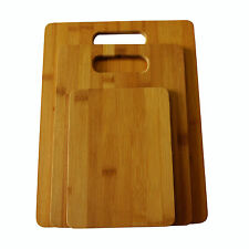 3 Set Piece Bamboo Cutting Board Totally Kitchen Wood Chopping Boards New