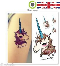 Unicorn Tattoo Kawaii Harajuku Waterproof Body Art Stickers Removable