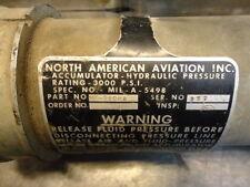 hydraulic accumulator north american aviation inc mil-a-5498