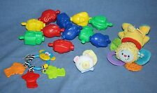 Mattel Lamaze Infant BABY TOY LOT Boy Girl Rattle Teether Snap Pop Bead Plush