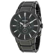 Fossil Black IP Steel Chronograph Watch FS4778