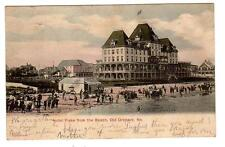 ME - OLD ORCHARD MAINE 1908 Postcard HOTEL FISKE FROM THE BEACH