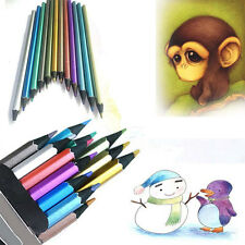 New 12pcs/Lot Metallic Non-toxic Colored Drawing Painting Pencils Sketching UP