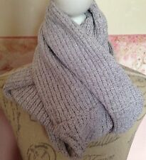 Ladies Beige and White Cotton Wraparound Scarf/Snood
