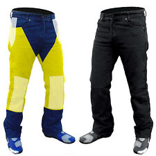 "NEW MENS MOTORCYCLEREINFORCED WITH DuPont™ KEVLAR® BLACK JEANS...38  ""W"