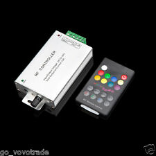 Music Control RF Audio RGB LED Controller 12A with Wireless Remote Stylish