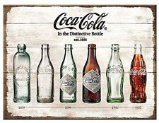 Coca Cola Bottle Evolution steel fridge magnet (na)