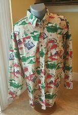1704 Resistol Rodeo Gear Long Sleeve Button Down Cowboy Men's Shirt Size Large