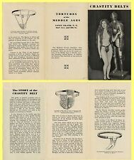 NY Coney Island Chastity Belts Illustrated History Brochure, f/Torture Chamber