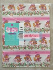 ☀️ Vintage NEW Peppermint Rose Scented Gift Wrap American Greetings One Sheet